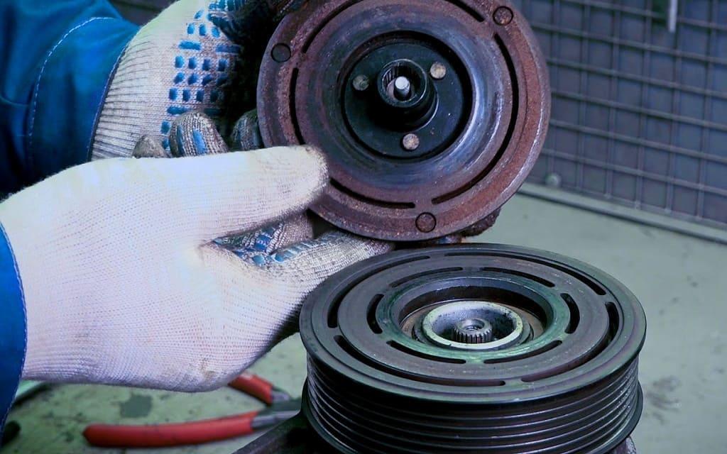Замена муфты компрессора кондиционера Хендай в Тюмени